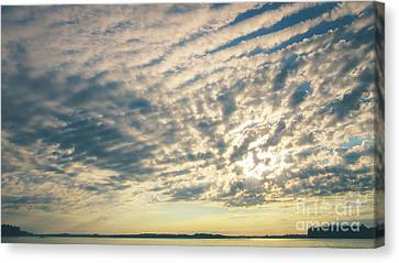 Big Sky Over The Rideau Lakes Canvas Print by Cheryl Baxter