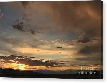 Big Sky Sunset Canvas Print by Carolyn Brown