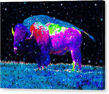 Big Snow Buffalo Canvas Print by David Lee Thompson