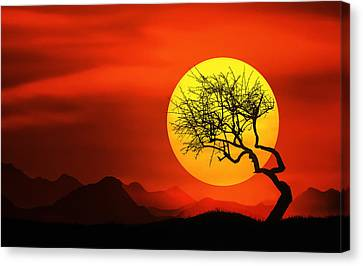 Big Sunset Canvas Print by Bess Hamiti