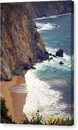 Big Sur Cliffs Two Canvas Print