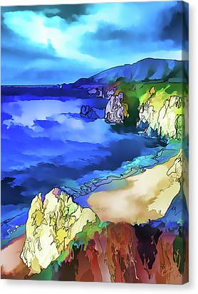 Brown Tones Canvas Print - Big Sur Coast by ABeautifulSky Photography by Bill Caldwell