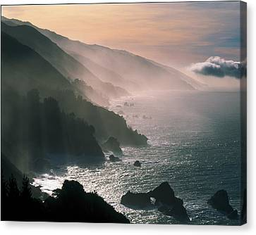 Abstract Seascape Canvas Print - Big Sur Coastline Ca Usa by Panoramic Images