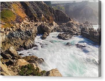 Canvas Print featuring the photograph Big Sur Coastline View Point by Jingjits Photography