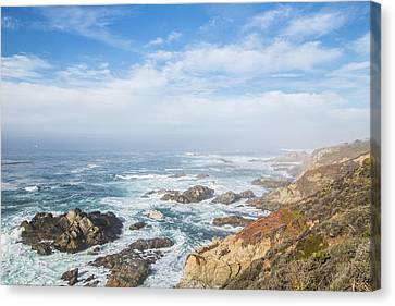 Canvas Print featuring the photograph Big Sur Sea View by Jingjits Photography