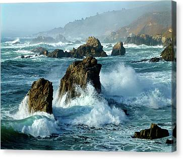 Big Sur Winter Wave Action Canvas Print