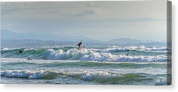 Canvas Print featuring the photograph Big Surf Invitational I by Thierry Bouriat