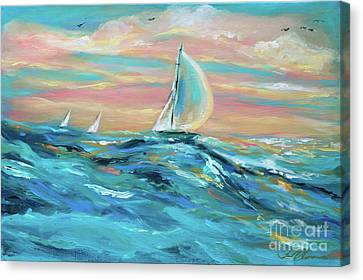 Big Swell Canvas Print by Linda Olsen