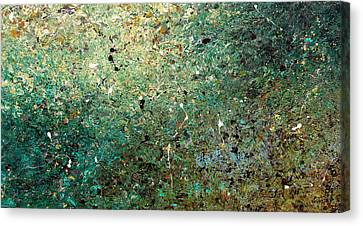 Canvas Print featuring the painting Big Universe - Abstract Art by Carmen Guedez