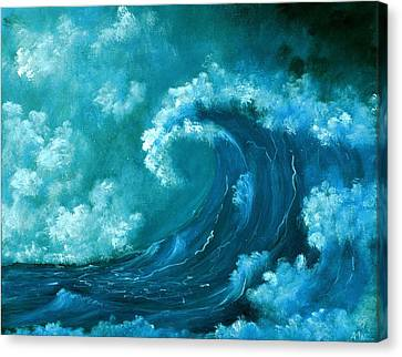Big Wave Canvas Print by Anastasiya Malakhova