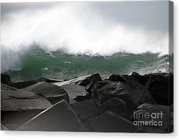 Big Wave Canvas Print by Larry Keahey