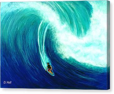 Big Wave North Shore Oahu #285 Canvas Print by Donald k Hall