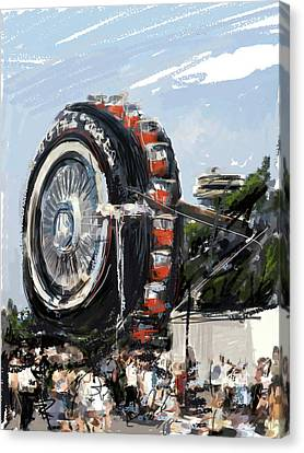Big Wheel In The Sky Canvas Print by Russell Pierce