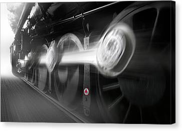 Big Wheels In Motion Canvas Print by Mike McGlothlen