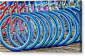 Big Wheels Psychedelic  Canvas Print by Floyd Snyder