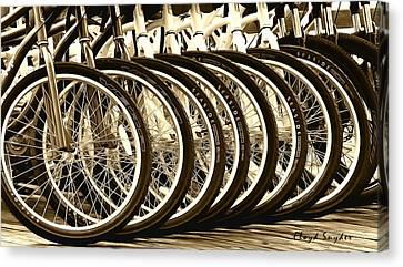 Big Wheels Sepia Canvas Print by Floyd Snyder