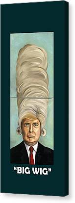 Big Wig With Lettering Canvas Print by Leah Saulnier The Painting Maniac