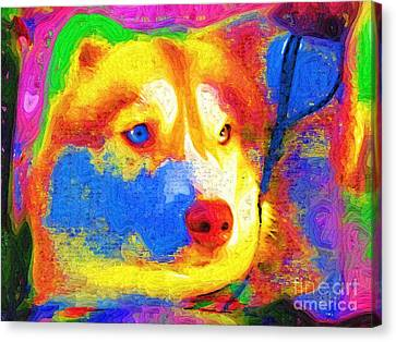 Big Wolf Canvas Print by Deborah MacQuarrie-Selib