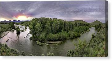 Big Wood River Canvas Print