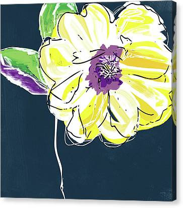 Big Yellow Flower- Art By Linda Woods Canvas Print