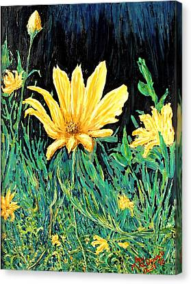 Canvas Print featuring the painting Big Yellow by Ian  MacDonald
