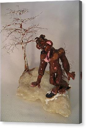 Different Stuff Canvas Print - Bigfoot On Crystal by Judy Byington