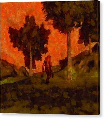 Bigfoot Wandering Canvas Print