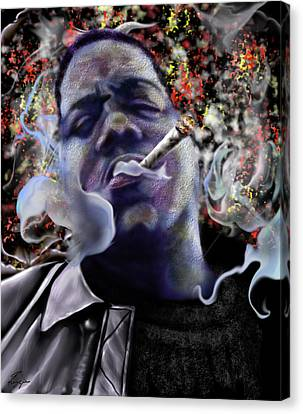 Biggie - Burning Lights 5 Canvas Print by Reggie Duffie