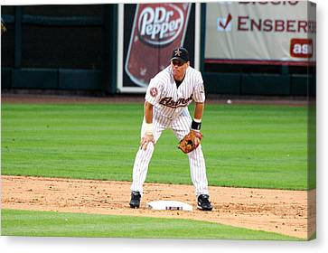 Biggio At Second Canvas Print by Teresa Blanton