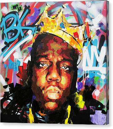 Canvas Print featuring the painting Biggy Smalls IIi by Richard Day