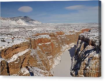Bighorn Canyon National Recreation Area Canvas Print - Bighorn Canyon, Montana by Jean-Louis Klein & Marie-Luce Hubert