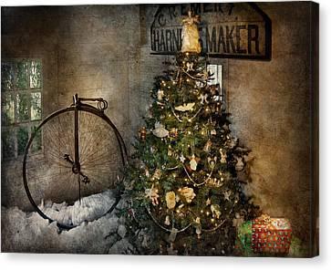 Bike - I Wanna Bike For Christmas  Canvas Print by Mike Savad