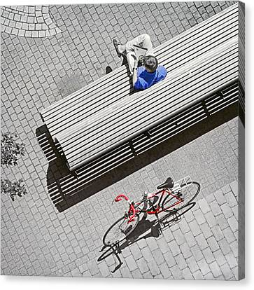 Bike Break Canvas Print by Keith Armstrong