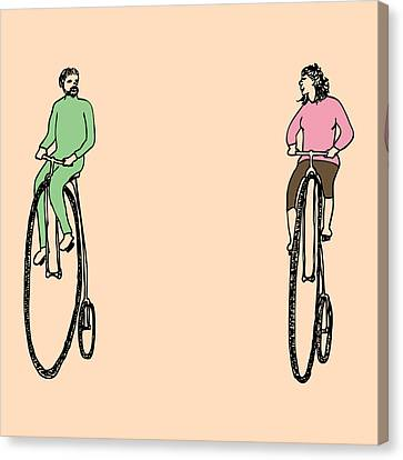 Bike Buddies Canvas Print by Karl Addison