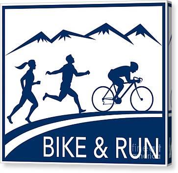 Bike Cycle Run Race Canvas Print by Aloysius Patrimonio