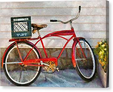Bike - Delivery Bike Canvas Print