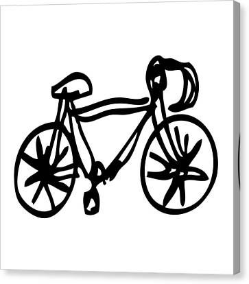 Bike Drawing Canvas Print by Karl Addison