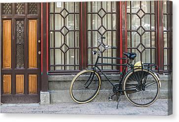 Bike In Amsterdam Canvas Print