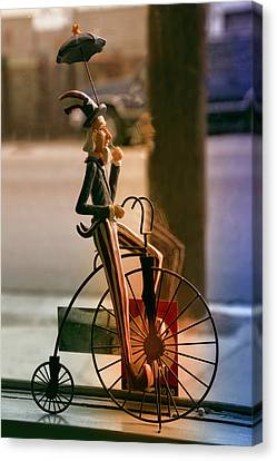 Bike In The Window Canvas Print by Terry Davis