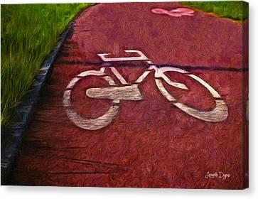 Bike Lane - Da Canvas Print by Leonardo Digenio