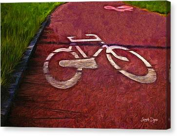 Bike Lane - Pa Canvas Print by Leonardo Digenio