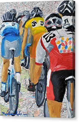 Bike Map 2 Canvas Print by Michael Lee