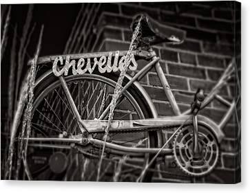 Canvas Print featuring the photograph Bike Over Chevelles by Greg Mimbs