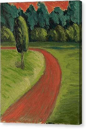 Bike Path Through The Greenbelt Canvas Print by Clarence Major
