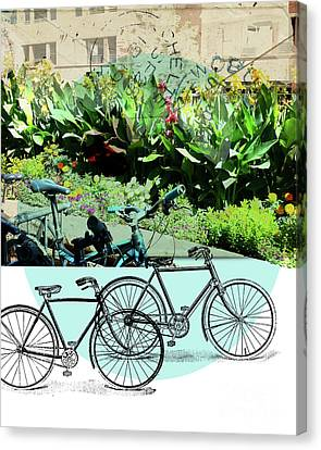 Bike Poster Canvas Print