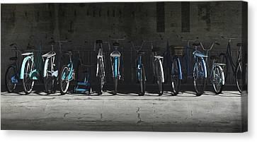 Bike Rack Blues Canvas Print