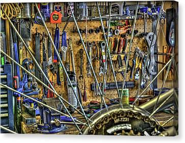 Bike Repair Shop Canvas Print