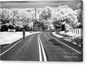 Bike Ride Infrared Canvas Print by John Rizzuto