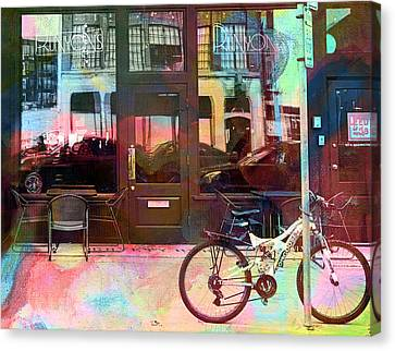 Canvas Print featuring the digital art Bike Ride To Runyons by Susan Stone