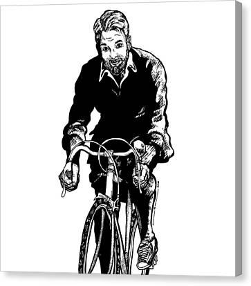 Bike Rider Canvas Print by Karl Addison